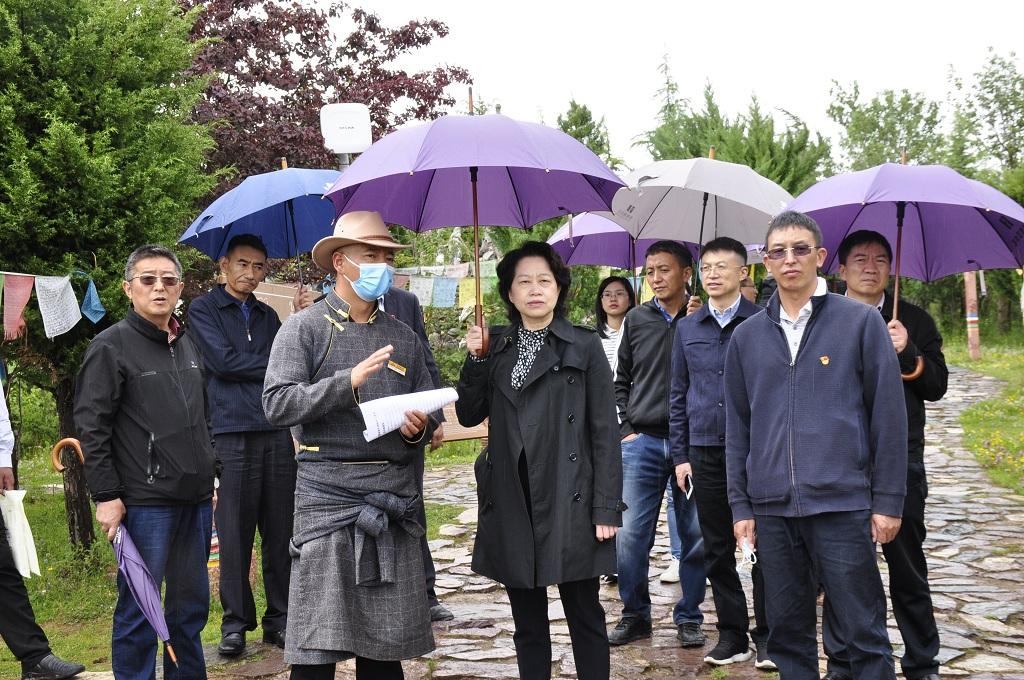 省人大常委会秘书长韩梅到迪庆开展调研